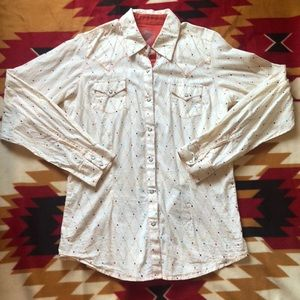 Wrangler Twenty X Aztec Tailored Fit Button Up